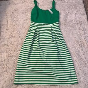 NWT Adorable Green and White Dress!